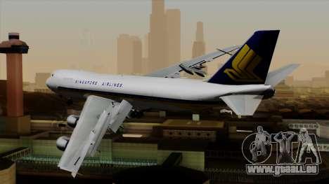 Boeing 747 Singapore (Old) pour GTA San Andreas laissé vue