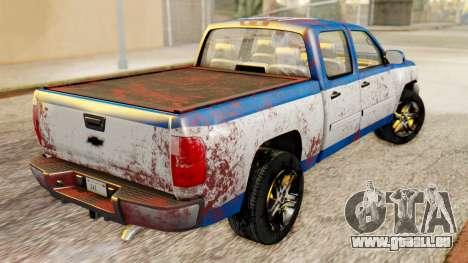Chevrolet Silverado 2010 TLoU Edition pour GTA San Andreas sur la vue arrière gauche