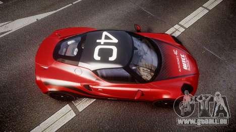 Alfa Romeo 4C 2014 WTCC Safety Car pour GTA 4 est un droit