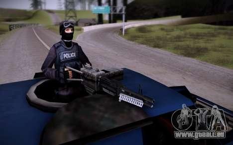 La Voiture Blindée. pour GTA San Andreas vue intérieure