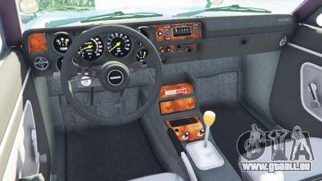 GTA 5 Nissan Skyline 2000 GT-R 1970 v0.2 [Beta] arrière droit vue de côté