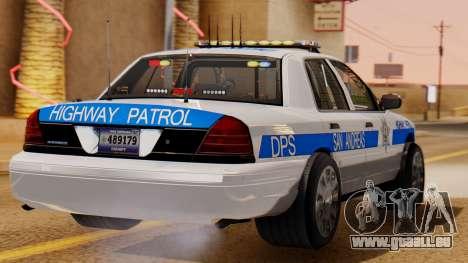 Police Ranger 2013 pour GTA San Andreas laissé vue