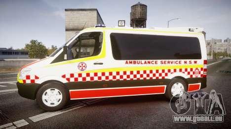 Mercedes-Benz Sprinter NSW Ambulance [ELS] pour GTA 4 est une gauche