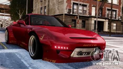 Mazda RX-7 RocketBunny EPM für GTA 4 Seitenansicht