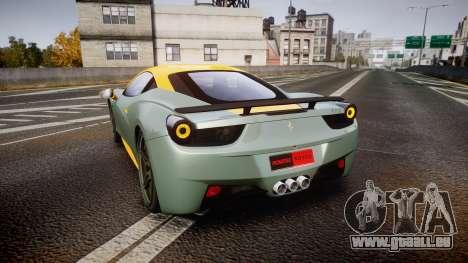 Ferrari 458 Italia Novitec Rosso 2012 pour GTA 4 Vue arrière de la gauche