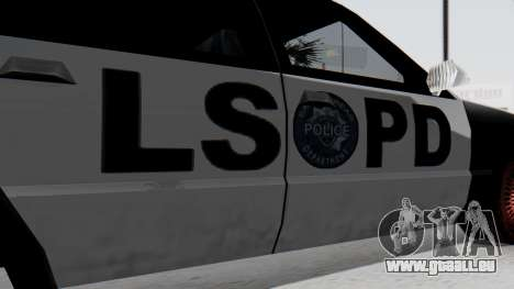 Police LS with Lightbars pour GTA San Andreas vue de droite