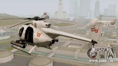 AH-6J Little Bird für GTA San Andreas linke Ansicht