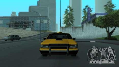New Taxi pour GTA San Andreas vue de dessous