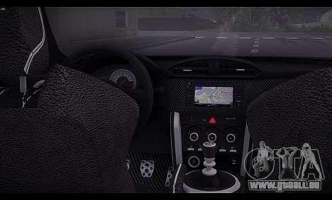 Toyota GT86 2012 BUFG Edition pour GTA San Andreas vue intérieure