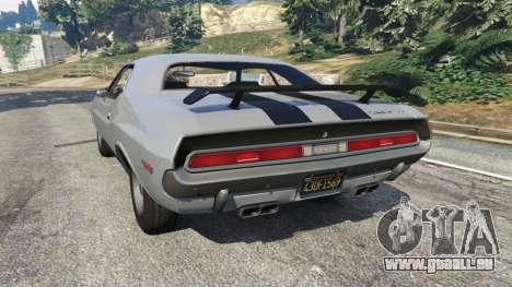 GTA 5 Dodge Challenger RT 440 1970 v0.8 [Beta] arrière vue latérale gauche