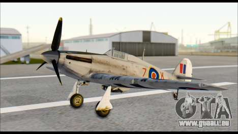 Hawker Hurricane MK IA pour GTA San Andreas vue de droite