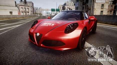 Alfa Romeo 4C 2014 WTCC Safety Car pour GTA 4