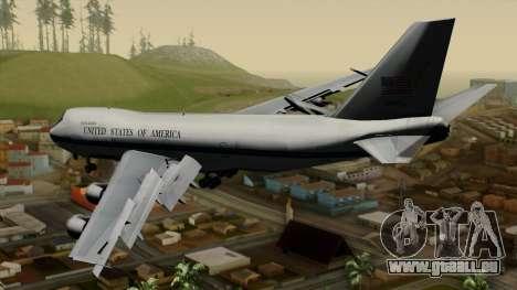 Boeing 747 E-4B für GTA San Andreas linke Ansicht