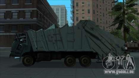 TDK Volvo Xpeditor Garbage Crash Version pour GTA San Andreas laissé vue