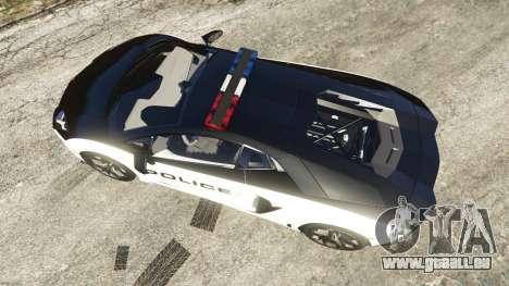 Lamborghini Aventador LP700-4 Police pour GTA 5