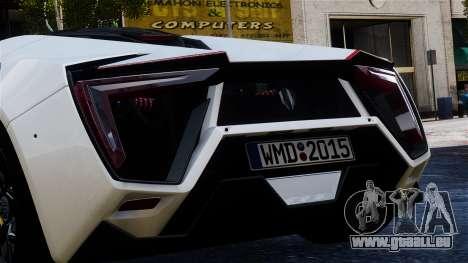 Lykan Hypersport 2015 EPM für GTA 4 Rückansicht