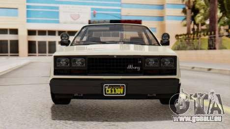 GTA 5 Albany Esperanto Police Roadcruiser IVF für GTA San Andreas Seitenansicht