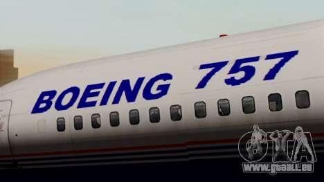 Boeing 757-200 (N757A) für GTA San Andreas Rückansicht