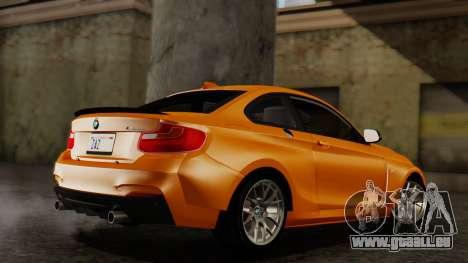 BMW M235i F22 Sport 2014 pour GTA San Andreas laissé vue