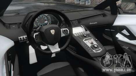GTA 5 Lamborghini Aventador LP700-4 Police v3.5 arrière droit vue de côté