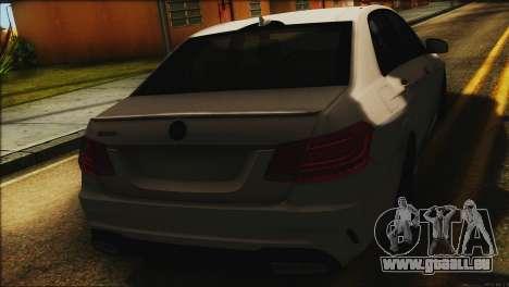 Mercedes-Benz E63 Brabus BUFG Edition für GTA San Andreas Rückansicht