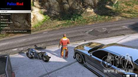 GTA 5 PoliceMod 2 2.0.2 deuxième capture d'écran