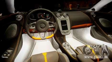 McLaren 570S 2015 rims2 pour GTA 4 Vue arrière
