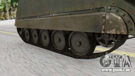 M113 from CoD BO2 pour GTA San Andreas sur la vue arrière gauche
