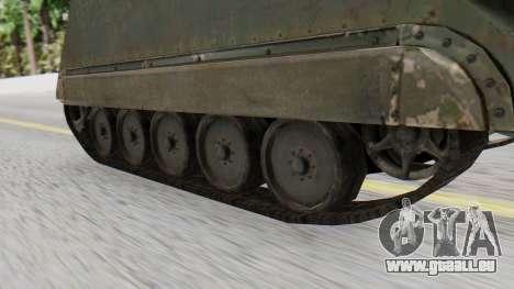 M113 from CoD BO2 für GTA San Andreas zurück linke Ansicht