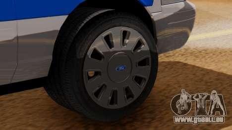 Police Ranger 2013 pour GTA San Andreas sur la vue arrière gauche