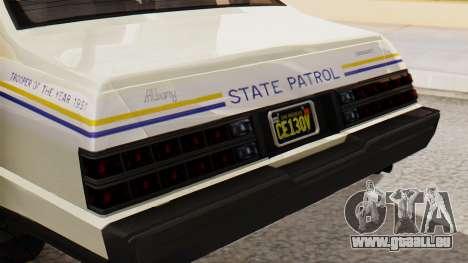 GTA 5 Albany Esperanto Police Roadcruiser IVF pour GTA San Andreas vue arrière