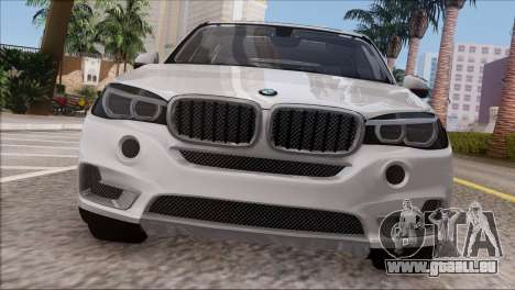 BMW X5 F15 BUFG Edition für GTA San Andreas Rückansicht