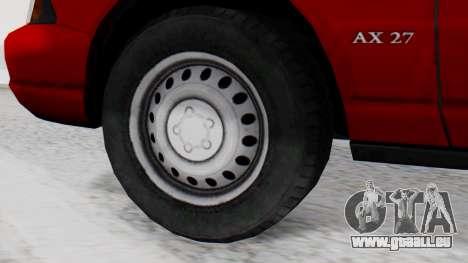 Dolton Broadwing Taxi pour GTA San Andreas sur la vue arrière gauche