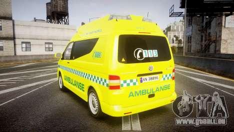 Volkswagen Transporter Norwegian Ambulance [ELS] für GTA 4 hinten links Ansicht