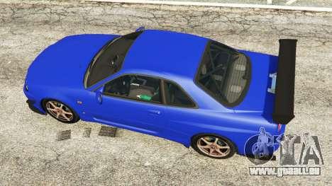GTA 5 Nissan Skyline R34 GT-R 2002 v0.8 [Beta] vue arrière