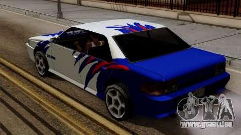 Vinyle pour le Sultan - NFSMW B15 pour GTA San Andreas vue arrière