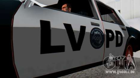 Police LV with Lightbars pour GTA San Andreas vue de droite