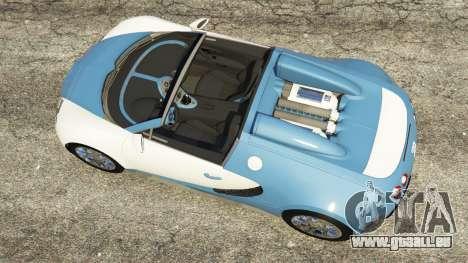 GTA 5 Bugatti Veyron Grand Sport v2.0 Rückansicht