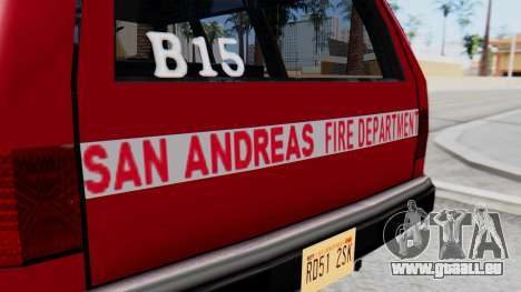 FDSA Fire SUV für GTA San Andreas rechten Ansicht
