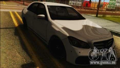 Mercedes-Benz E63 Brabus BUFG Edition für GTA San Andreas zurück linke Ansicht