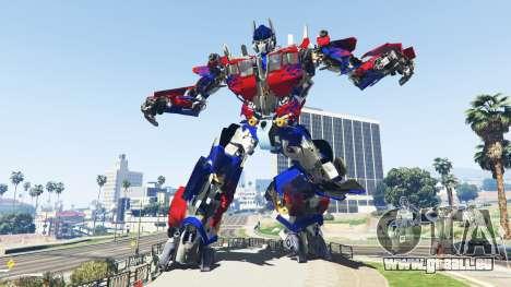 La Statue De Optimus Prime pour GTA 5