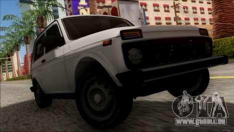VAZ Niva 2121 BUFG Édition pour GTA San Andreas vue intérieure