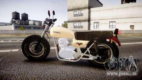Honda CB-100 für GTA 4 linke Ansicht