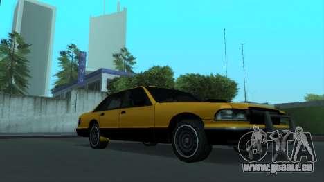 New Taxi pour GTA San Andreas vue de dessus