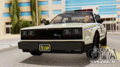GTA 5 Albany Esperanto Police Roadcruiser IVF pour GTA San Andreas