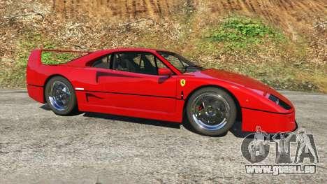 GTA 5 Ferrari F40 1987 v1.1 linke Seitenansicht
