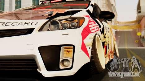 Toyota Prius JDM 2011 Itasha für GTA San Andreas Rückansicht