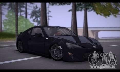 Toyota GT86 2012 BUFG Edition pour GTA San Andreas laissé vue