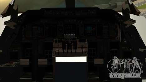 Boeing 747 Delta für GTA San Andreas Rückansicht