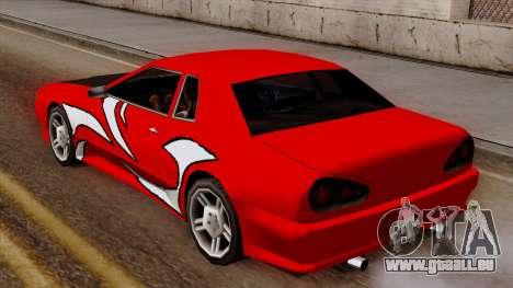 Vinyle pour Elegy - NFSMW pour GTA San Andreas vue arrière
